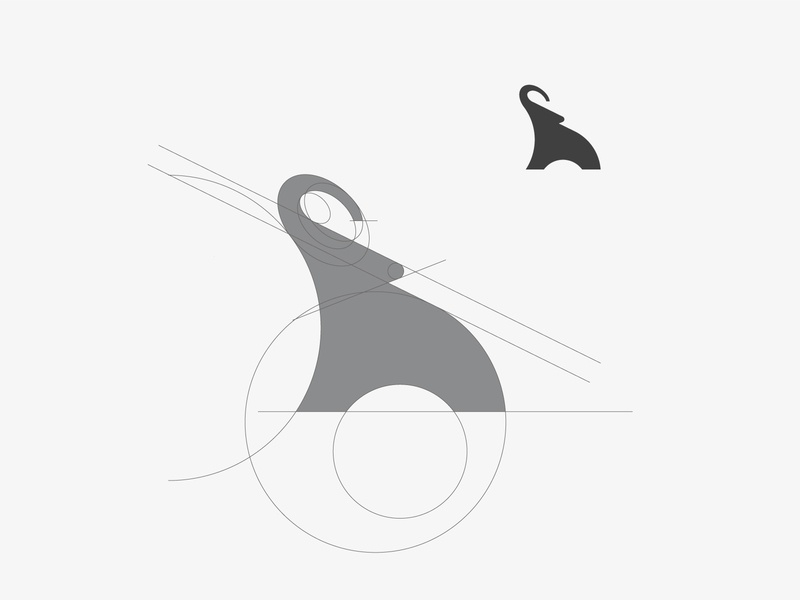 Elephant elephant vector process branding design golden ratio icon illustration logo illustrator