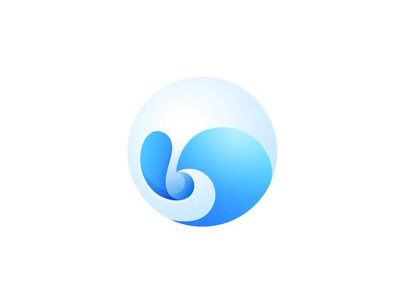 Water pastel color water branding design icon gradient illustration logo illustrator