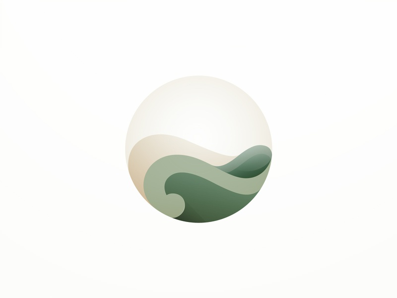 Earth mark symbol earth branding design vector gradient icon illustration logo illustrator