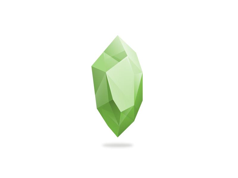 Crystal nature green crystal icon vector design branding gradient logo illustration illustrator