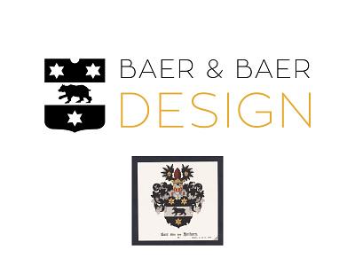 Baer & Baer Design germany german identity brand logo design branding design coatofarms branding logotype logo