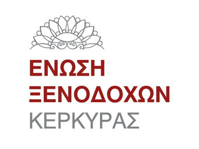 Hoteliers Association of Corfu logo design vector hotel branding brand identity logotype logo