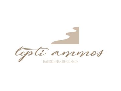 Lepti Ammos typogaphy sand branding brand logotype logo