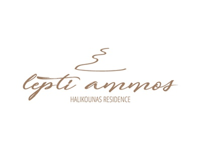 Lepti Ammos typography logo logo design beach house beach sand typography branding brand logotype logo