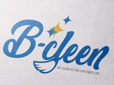 B-cleen identity branding logotype typography cleaning logo