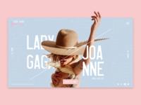 Lady Gaga Landing Page