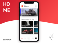 YouTube Redesign - iOS APP - Home