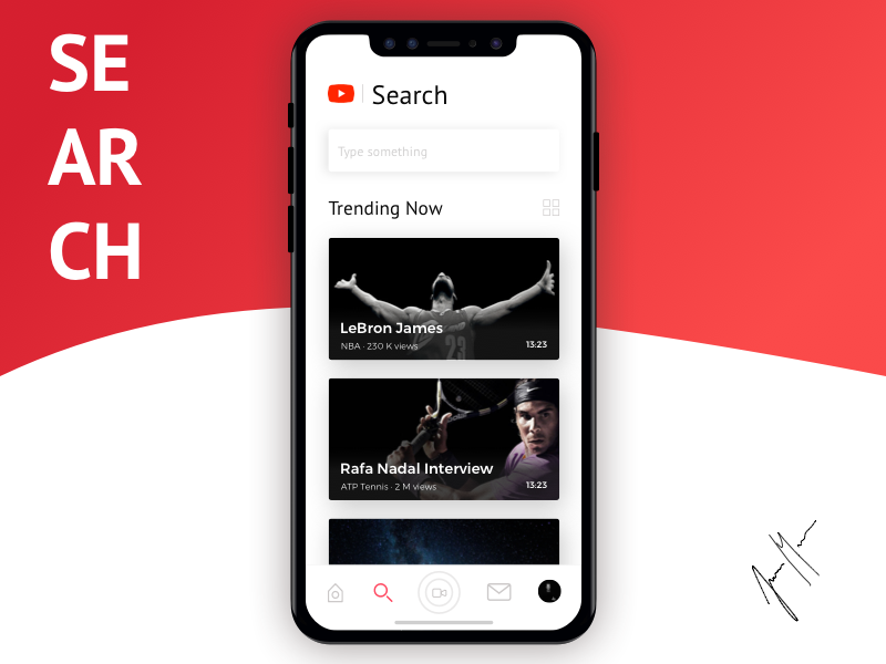 YouTube Redesign - iOS APP - Search by Javi Martin for