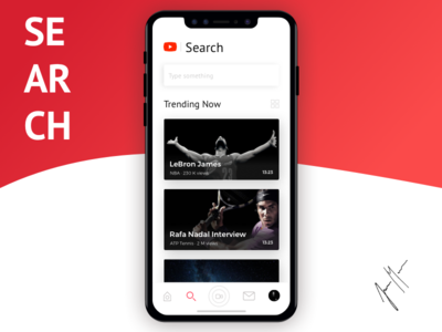 YouTube Redesign - iOS APP - Search