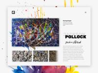 Jackson Pollock Design Web  🎨