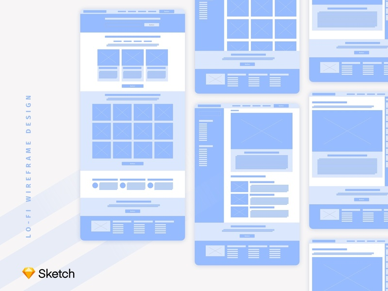 Set of Wireframes For Educational Project interface ui wireframes