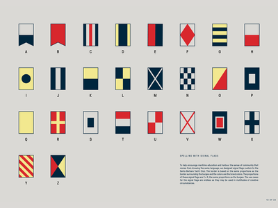 Maritime Signal Flags for the Santa Barbara Yacht Club