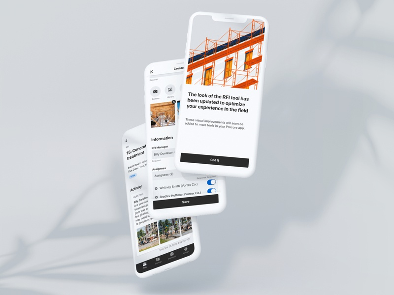 A Construction-First Mobile Experience construction iphone iconography illustration gradient thumbnails text input card splash page inputs android graphic design design clean native app native ios mobile app design mobile design mobile ui