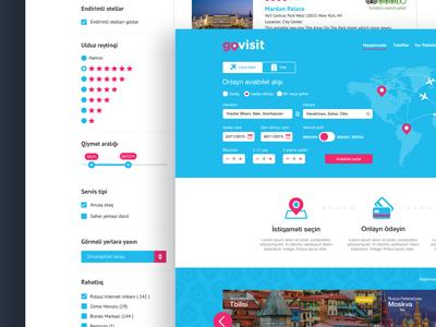 GoVisit.az Online Travel Agency site website ux ui booking online hotel tourism travel