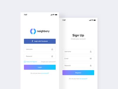 Sign In & Sign Up Forms newuser register dailyui daily ui signup signin login