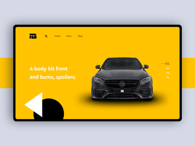 Individual Garage Homepage ecommerce shopify mercedes ux ui web body kits car tuning