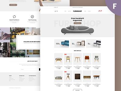 Furnishop -  E-commerce Template ui app furniture furniture store shopify e-commerce ecommerce design