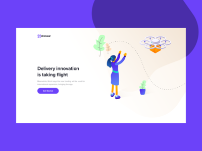Dronear Delivery website