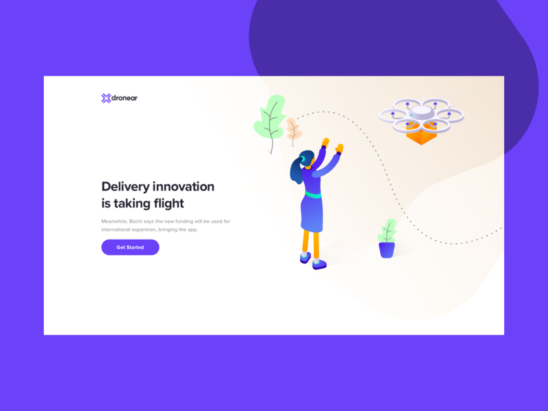 Dronear Delivery website app ui web delivery drone dronear
