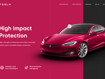 Tesla website concept ux ui web model s elon musk elonmusk tesla