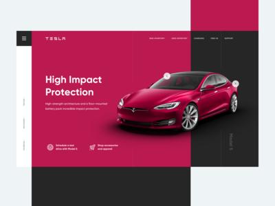 Tesla website concept