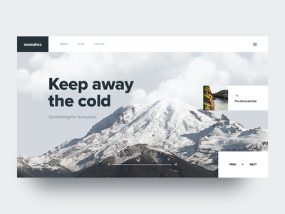 Mounista web slider mountain ux ui