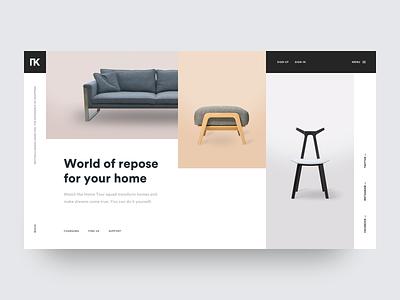 TK Modern Furniture - Homepage contemporary loft minimal furniture modern ux ui