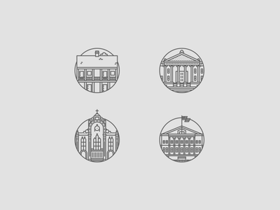 Louisiana Landmark Icons, Part 3 icon brand icons landmark louisiana vector