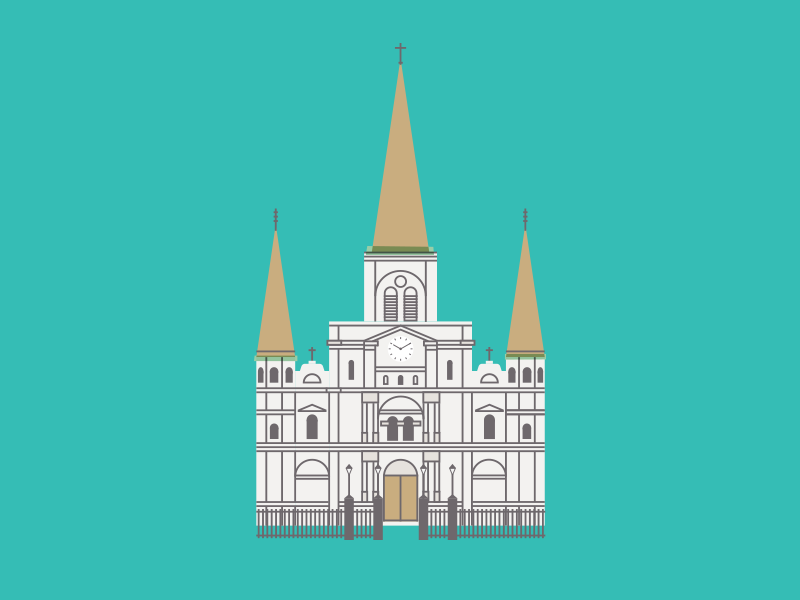 St Louis Cathedral By Caleb Sylvest Dribbble