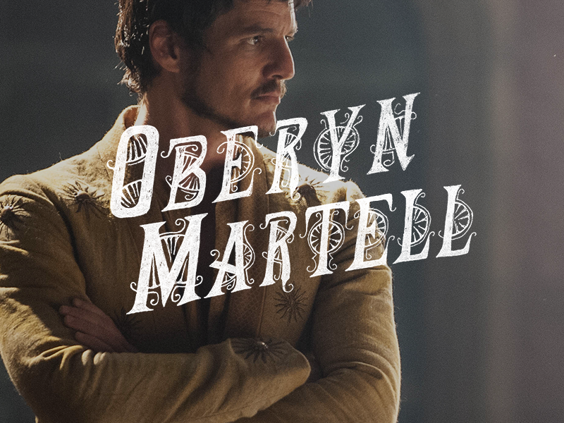 Oberyn martell branding a game of thrones