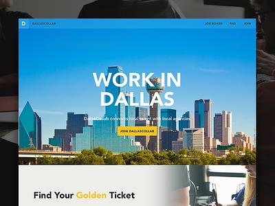 DallasCollab work icon ui design dallas website
