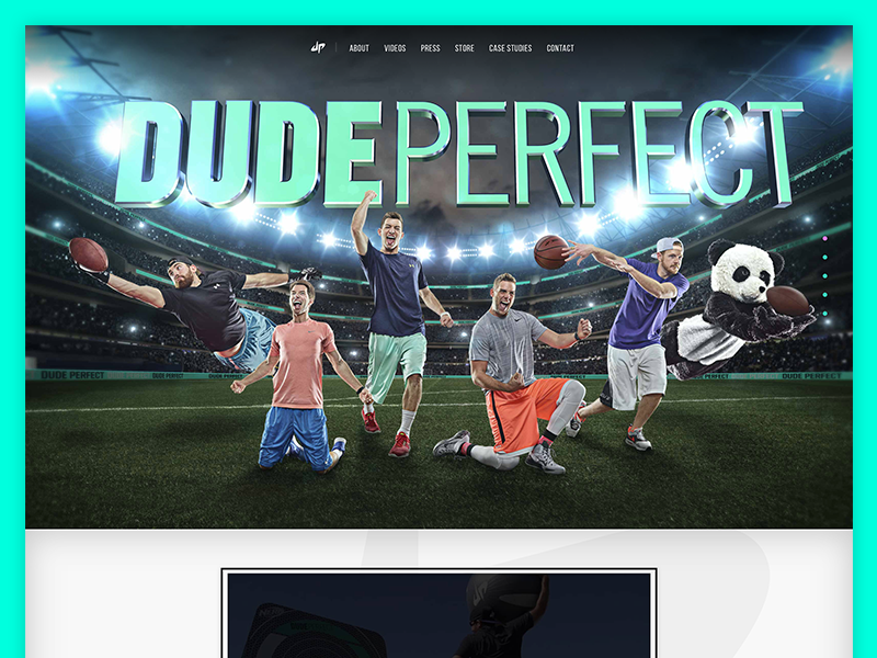 Dude perfect home by caleb sylvest dribbble for Dude perfect logo wallpaper