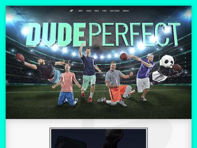 Dude Perfect Home: Hero Banner hero image hero brand web home webdesign ui design sports website dude perfect