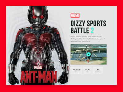 Dude Perfect & Marvel Case Study typography web ant man marvel case study web design ui design sports website dude perfect