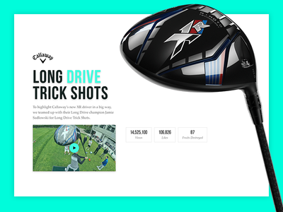 Dude Perfect & Callaway typography web golf callaway case study web design ui design sports website dude perfect