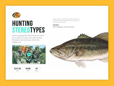 Dude Perfect & Bass Pro hunting bass pro case study web design ui design sports website dude perfect