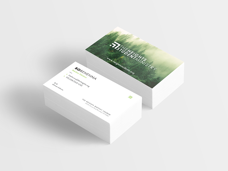 The Heights Church Business Card By Caleb Sylvest Dribbble Dribbble