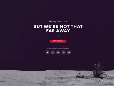 Spacetime Website Footer