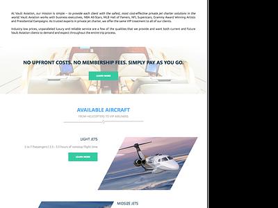 Vault Aviation - Homepage Redesign marketing homepage design web jet agency portfolio ui client spacetime website