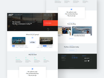 Vault Aviation - Homepage Redesign