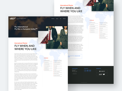 Vault Aviation - Internation Charter redesign template aviation ui design web client agency