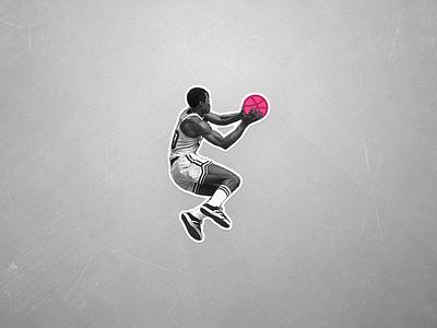 Slam - Dribbble Sticker vector free sticker pack playoff sticker mule player logo basketball sticker dribbble