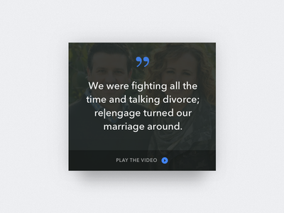 Quote Card church video watermark spacetime testimonial ui design card quote