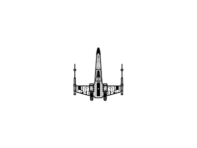 X Wing Vector illustration spaceship x wing star wars vector icon