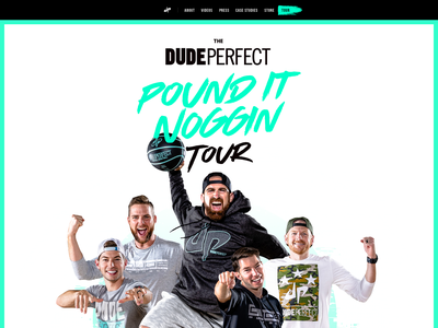 Dude Perfect Tour 2019 - Pound It Noggin tour dates web  design design dude perfect