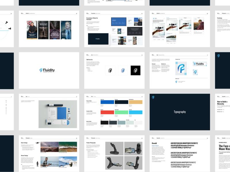 Fluidity Tech Brand Guideline Booklet
