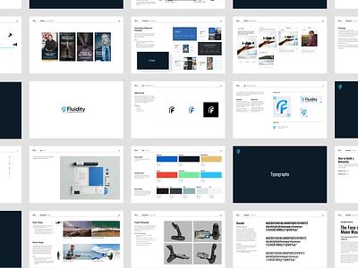Fluidity Tech Brand Guideline Booklet typography logo design guideline branding brand