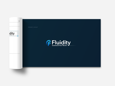 Fluidity Tech Brand Guideline Booklet Detail design icon logo branding brand