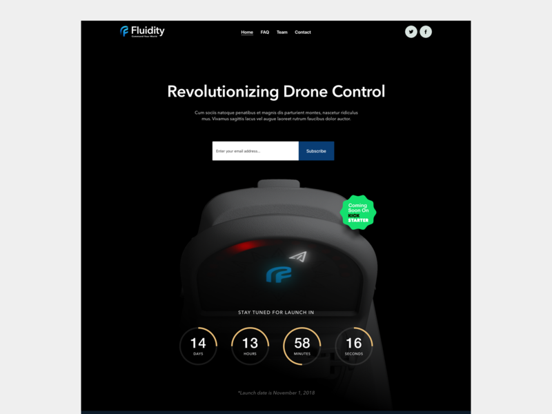 Fluidity Tech Website Pre-Launch