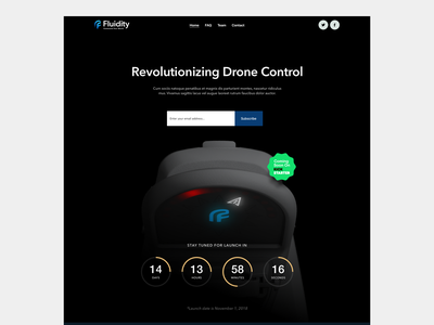 Fluidity Tech Website Pre-Launch crowdfund launch kickstarter website web design